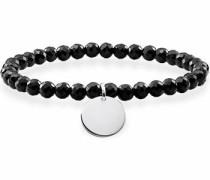 Armband 'Schwarz Coin Lba0113-840-11-L' schwarz / silber