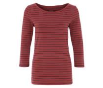 Jerseyshirt mit U-Boot-Ausschnitt rot