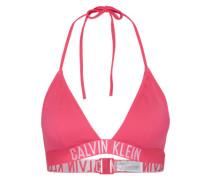Bikinitop mit Logo-Bund fuchsia