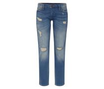 'liv Selvage' Destroyed Jeans blue denim