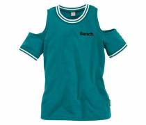 T-Shirt petrol / weiß