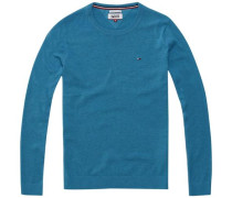 Pullover 'thdm Basic CN Sweater L/S 11' blau