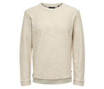 Sweatshirt Einfarbig beige