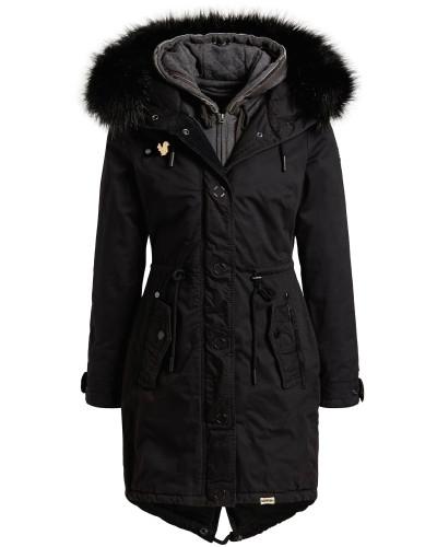 Mantel ' Adelisa With Inner Jacket ' schwarz