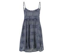 Sommerkleid 'Retrogold' blau / weiß