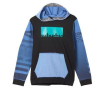 Colorblocking Hoodie blau / schwarz