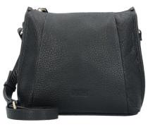Raphaela Umhängetasche Leder 22 cm schwarz