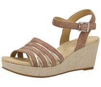 Sandalen taupe / silber
