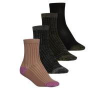 Glitter-Socken braun / schwarz