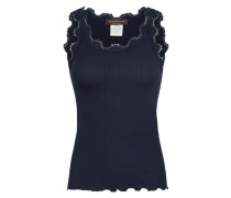 Top 'vintage lace' navy