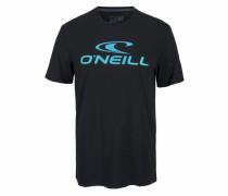 T-Shirt aqua / schwarz