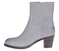 Lederstiefelette 'ankle Boot' hellgrau