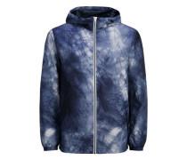 Verstaubare Leichte Jacke blau / weiß