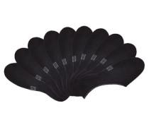 Offene Füßlinge (10 Paar) schwarz / weiß