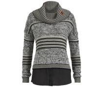 'vanni' Strickpullover grau / schwarz / weiß