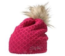 Bommelmütze Ashley Lux pink