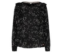 Bluse mit Sternen-Print schwarz