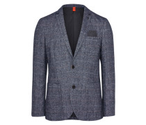 Sakko 'woolen strucutre' grau
