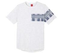Shirt mit asymmetrischem Print graumeliert