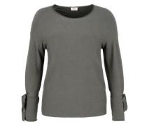 Feiner Pullover mit Binde-Detail braun / khaki