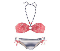 Bandeau Bikini blau / rot
