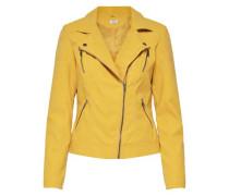 Kunstlederjacke Biker gelb