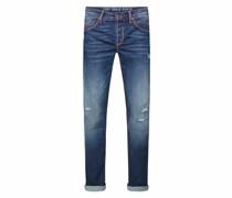 Jeans Ro:bi mit Kontrastnähten und Used Look