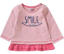 Baby Langarmshirt für Mädchen rosa / weiß