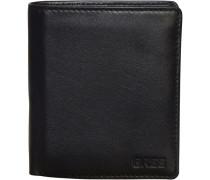 Pocket 115 Geldbörse Leder 10 cm schwarz