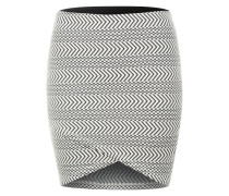 Minirock mit Allovermuster grau / weiß
