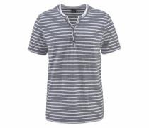 T-Shirt taubenblau / weiß