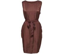 Einfarbiges Kleid ohne Ärmel kastanienbraun