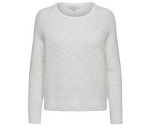 Regular-Fit-Strickpullover weiß