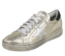 Sneaker mit Stern-Detail gold / silber