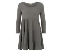 Kleid mit Volants grau