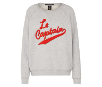 Sweatshirt 'Relaxed fit sweat with 'Le Captain' artwork' hellgrau / rot