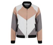 Jacke im Blouson-Stil beige / grau
