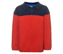 Poloshirt 'nitwolo' blau / rot