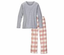 Bodywear Pyjama grau / rosé