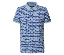 Shirt blau / hellblau