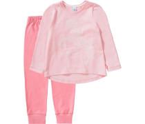 Einhorn Schlafanzug für Mädchen pink / rosa