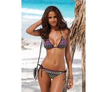 Triangel-Bikini neongrün / neonpink / schwarz / weiß