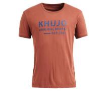 Shirt 'topaz' blau / rostbraun