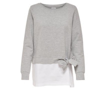 Detailreiches Sweatshirt grau