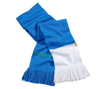 Football Strickschal blau / weiß