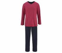 Pyjama nachtblau / rot