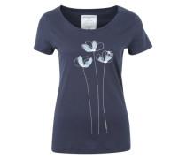 T-Shirt 'Mari Bouquet' mit Blumen-Print navy / hellblau