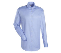 City-Hemd ' Slim Fit ' blau