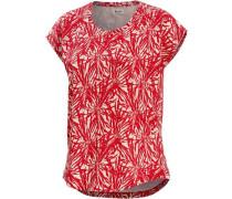 'Citrus' Printshirt rot / weiß