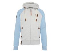 Zipped Jacket 'Fucking for Freedom Iii' hellblau / grau